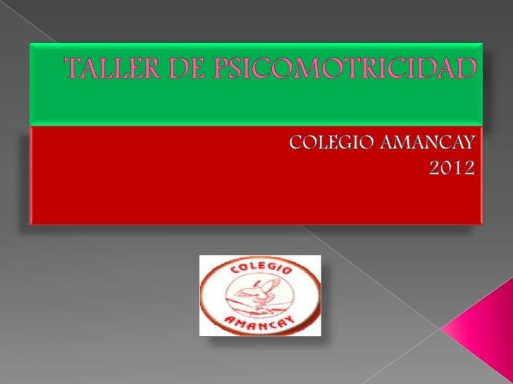 Objetios taller psicomotricidad