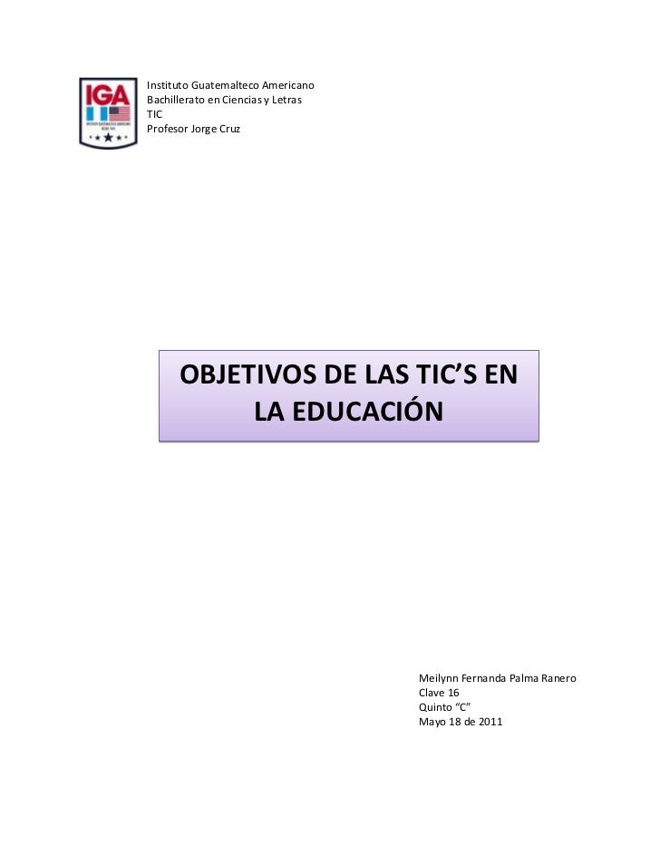 lefttopInstituto Guatemalteco Americano<br />Bachillerato en Ciencias y Letras<br />TIC<br />Profesor Jorge Cruz<br />9582...