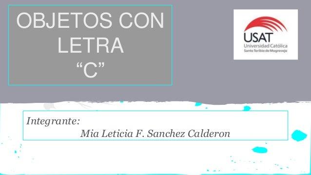 Objetos Con La Letra C