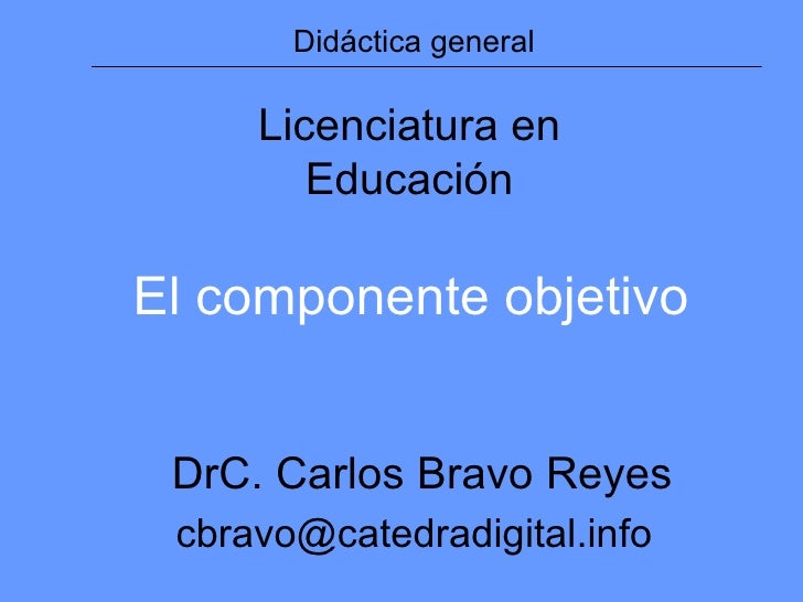 Objetivos (clase 1-UAGRM)
