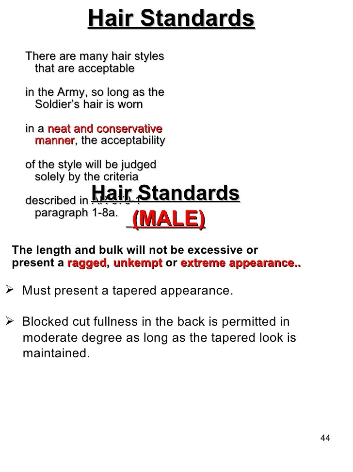 importance of grooming standards ar 670 1 Nco journal for the 24 soldiers  we must instill in those we lead the importance of our  ar 670-1 army regulations grooming standards raymond f chandler iii.