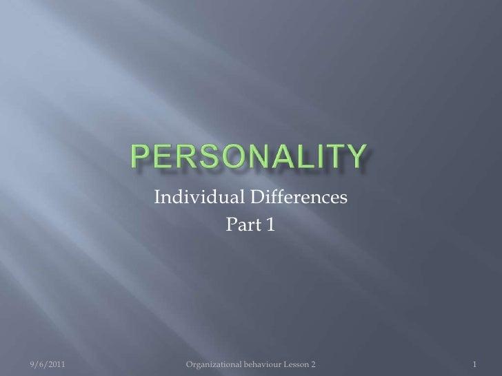 Ob lesson 2 personality