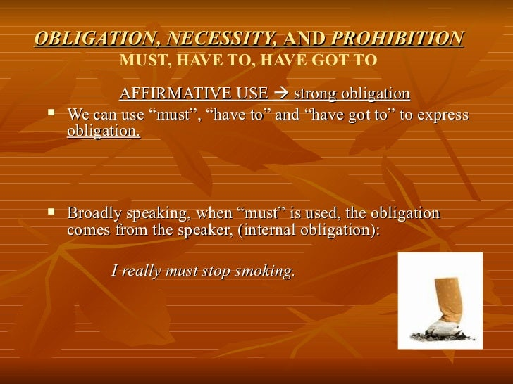 Obligation, Necessity, And Prohibition