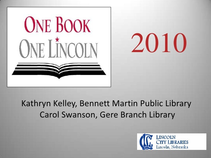 One Book-One Lincoln 2010