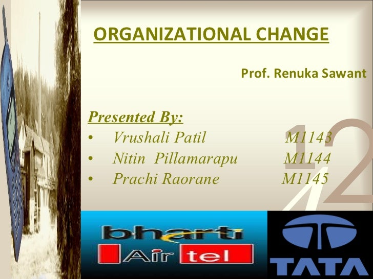 ORGANIZATIONAL CHANGE   Prof. Renuka Sawant <ul><li>Presented By: </li></ul><ul><li>Vrushali Patil  M1143 </li></ul><ul><l...
