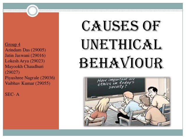 unethical behavior in marketing A brief description of ethical and unethical marketing behaviors.