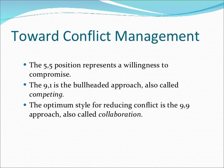 conflict styles essay Identifying conflict in our lives and overcoming it can be highly beneficial to our happiness and well being there are many different areas of conflict that we encounter throughout the course of an average day.