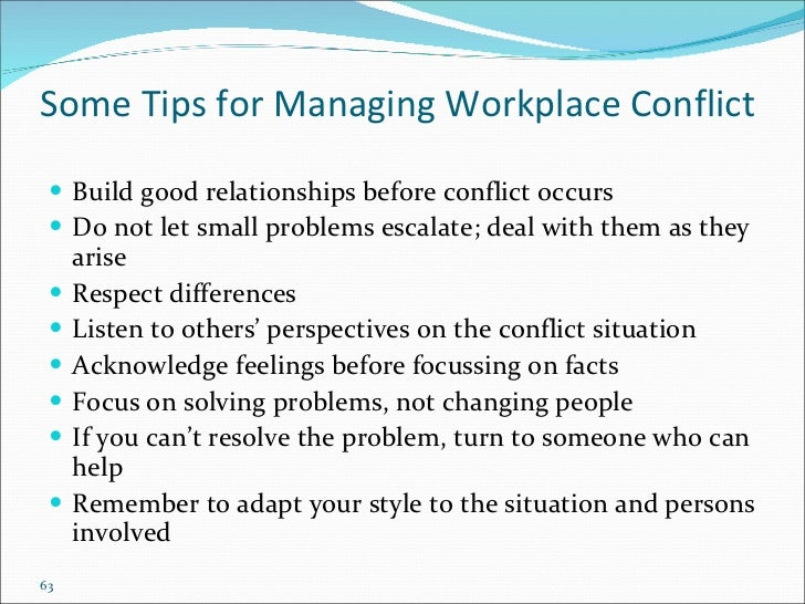 conflict resolution in the workplace essay
