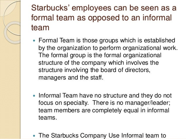 """a case study on the staff members of starbucks corporation A few years later, in 1992, the company went public with a market cap of $270 million today, it has that is still the case today, which is why starbucks employees are called 'partners' """"success is best when case studies."""