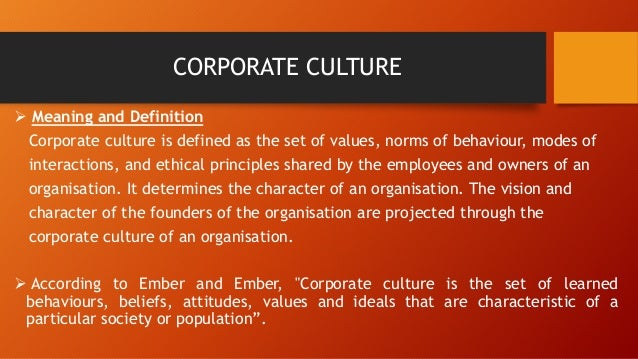 leadership the determinant of corporate culture What happened at wells fargo is a classic example of the failure of strategic and organizational leadership as which corporate culture can be a determinant.