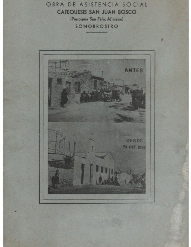 Obra de asistencia social. Parroquia San Félix Africano. Somorrostro, 1951