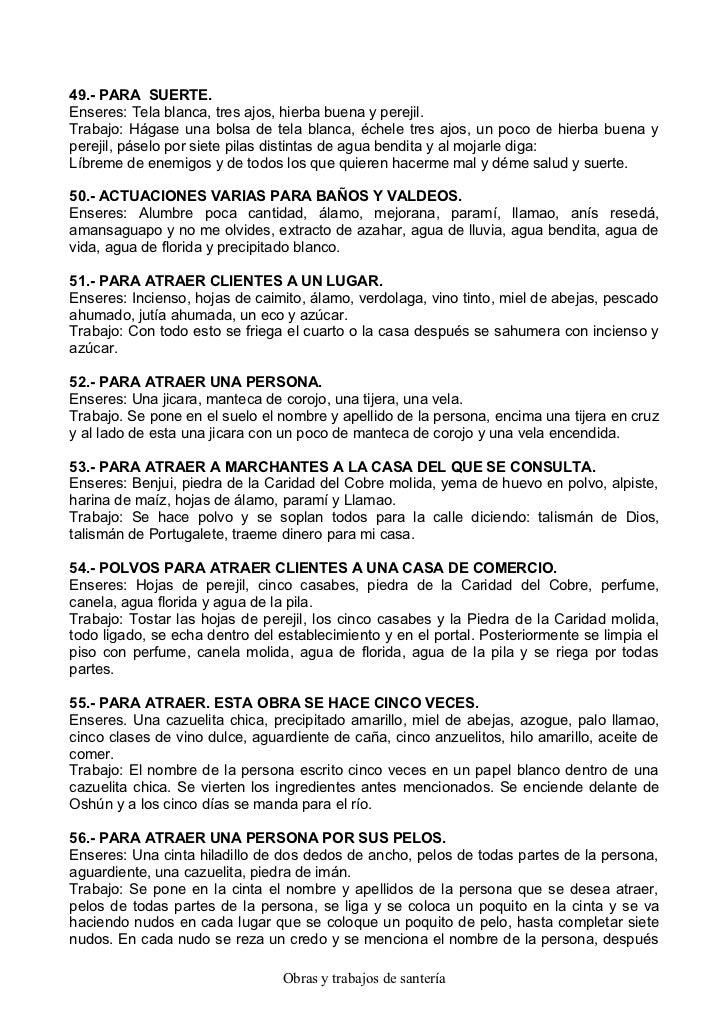 Baño Blanco Santeria:Obras y-trabajos-de-santeria-para-defenderse