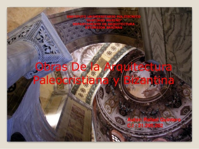"""INSTITUTO UNIVERSITARIO POLITECNICO """"SANTIAGO MARIÑO"""" DEPARTAMENTO DE ARQUITECTURA EXTENSION BARINAS  Obras De la Arquitec..."""