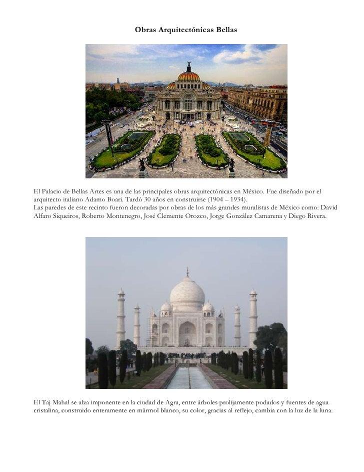Obras arquitectónicas bellas y sublimes