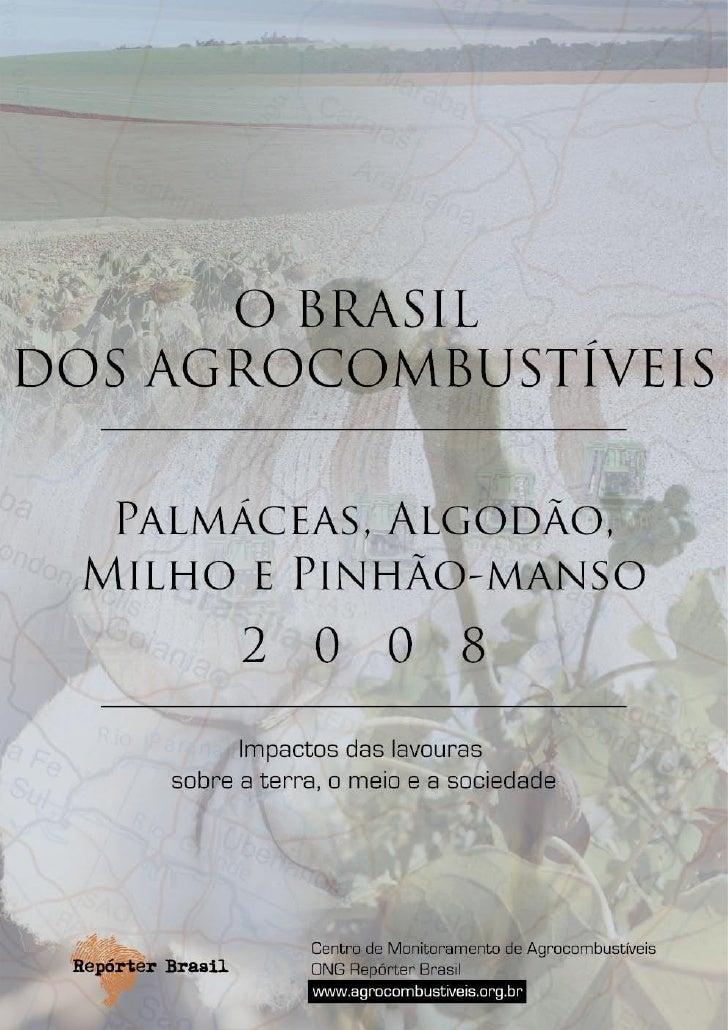 O lançamento deste relatório sobre dendê, babaçu, algodão, milho e pinhão-manso – culturas agrícolas usadas ou com poten- ...