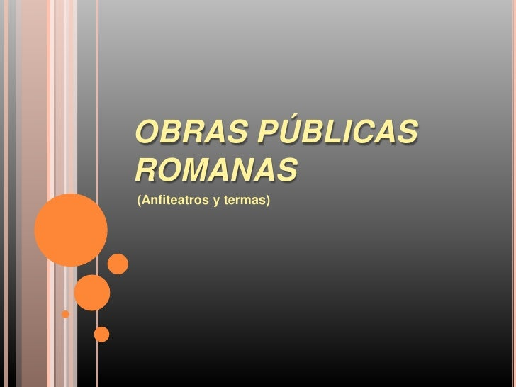 Obras públicas romanas