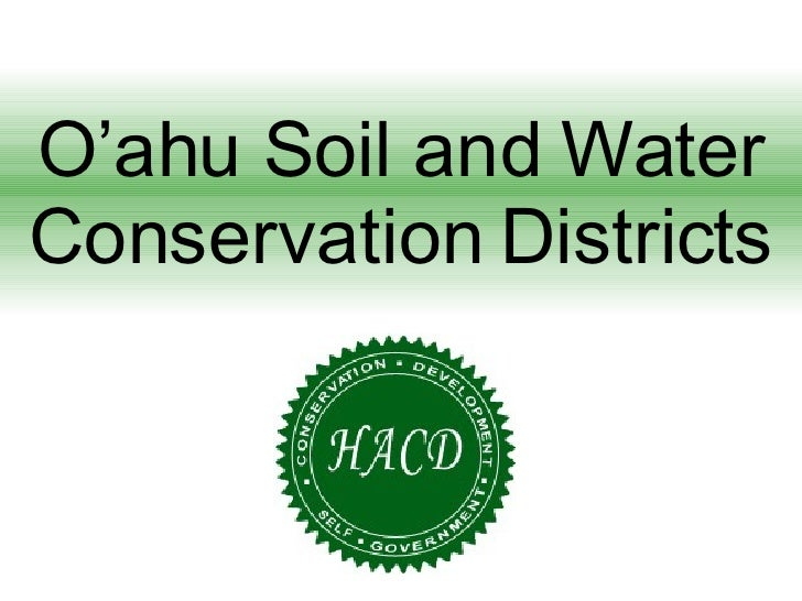 O'ahu Soil and Water Conservation Districts