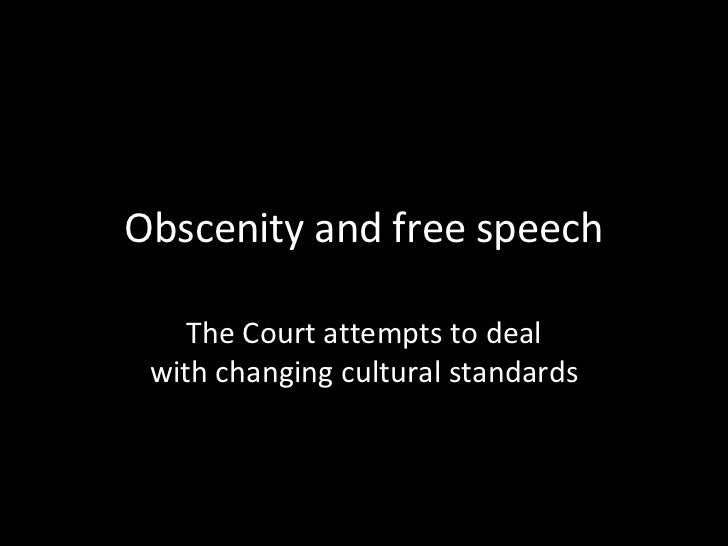 Obscenity and Free Speech