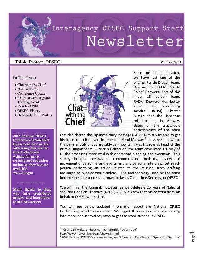 Obsec newsletter