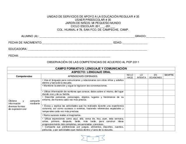UNIDAD DE SERVICIOS DE APOYO A LA EDUCACIÓN REGULAR # 35                                                    USAER PREESCOL...