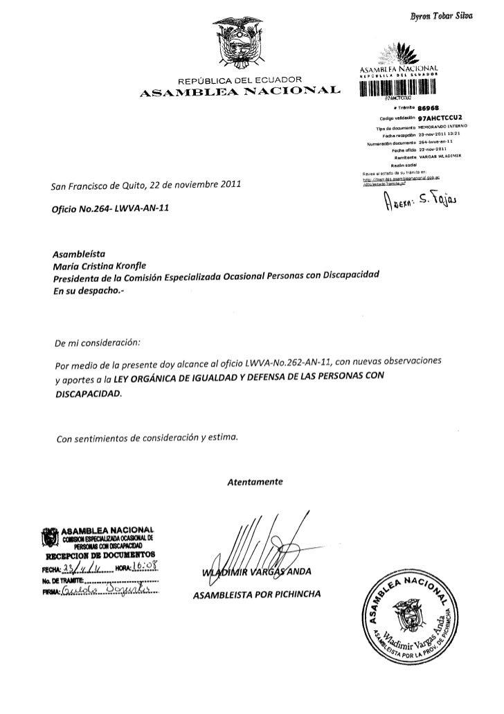 OBSERVACIONES PARA SEGUNDO DEBATE DEL PROYECTO DE LEY ORGÁNICA DE IGUALDAD Y DEFENSA DE LAS PERSONAS CON DISCAPACIDAD REAL...