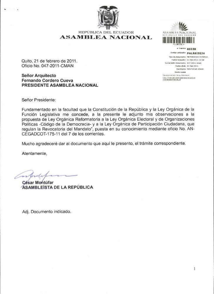 REPUBLICA DEL ECUADOR                     ASAlI4f BLEA NACIONAI-                                                          ...