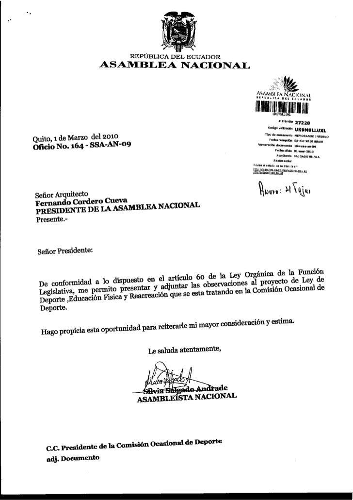 REPTIBLICA DEL ECUADOR                        ASA1ItrBLEA T{ACIOI{AI.                                                     ...