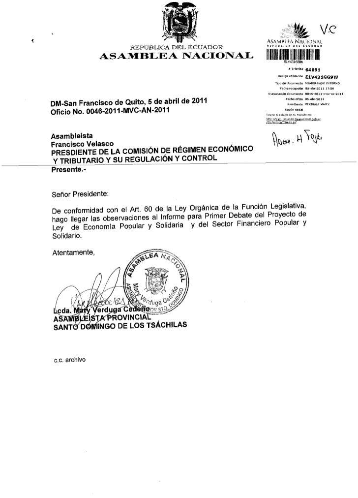 REPUBLICA DEL ECIADOR               ASAlvf BLEA NIACIOtr{AL                                                               ...