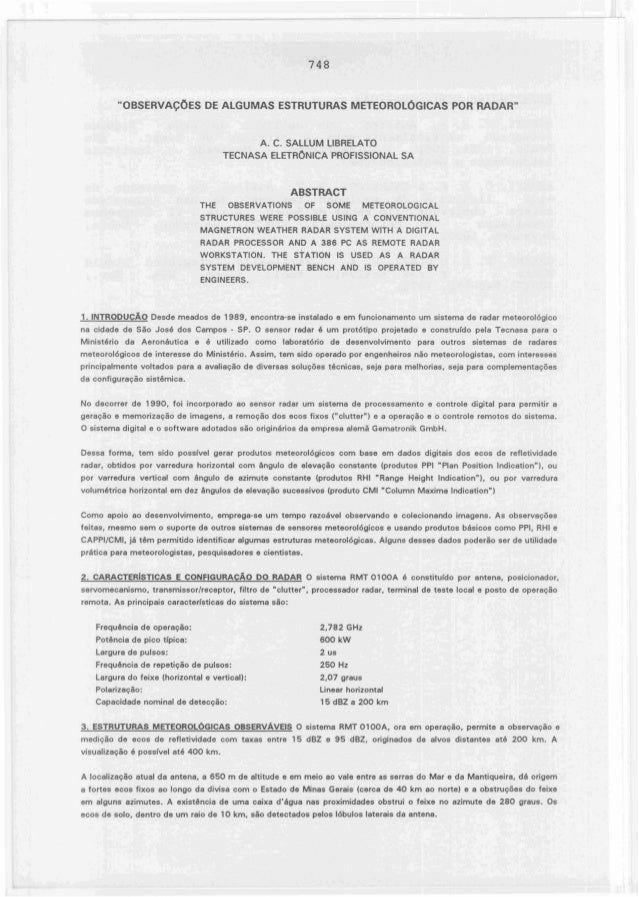 "748         ""OBSERVAÇOES DE ALGUMAS ESTRUTURAS METEOROLÓGICAS POR RADAR""                                            A. C. ..."