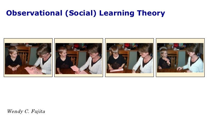 Observational (Social) Learning Theory Wendy C. Fujita