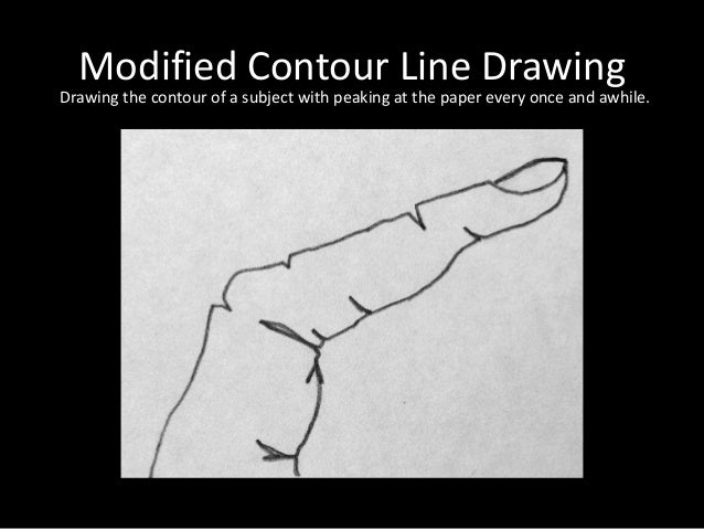 Modified Contour Line Drawing : Observational shoe drawings