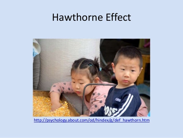 define and discuss the hawthorne effect Hawthorne effect definition, a positive change in the performance of a group of persons taking part in an experiment or study due to their perception of being singled out for special.