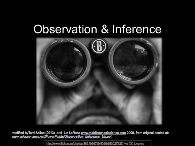 Observation and Inference Notes