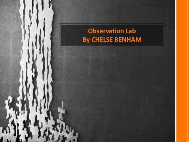 Observation LabBy CHELSE BENHAM