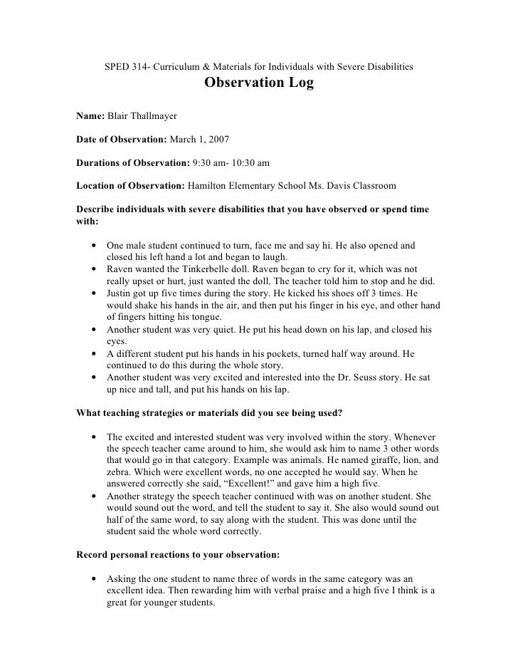 essay. sample classroom observation paper college narrative essay ...