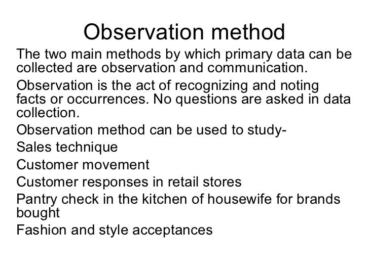 observation in business research