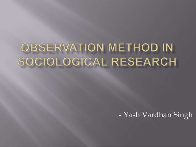 Research method in sociology