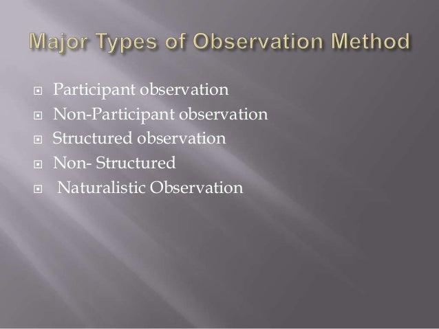 Naturalistic Observation Research Paper