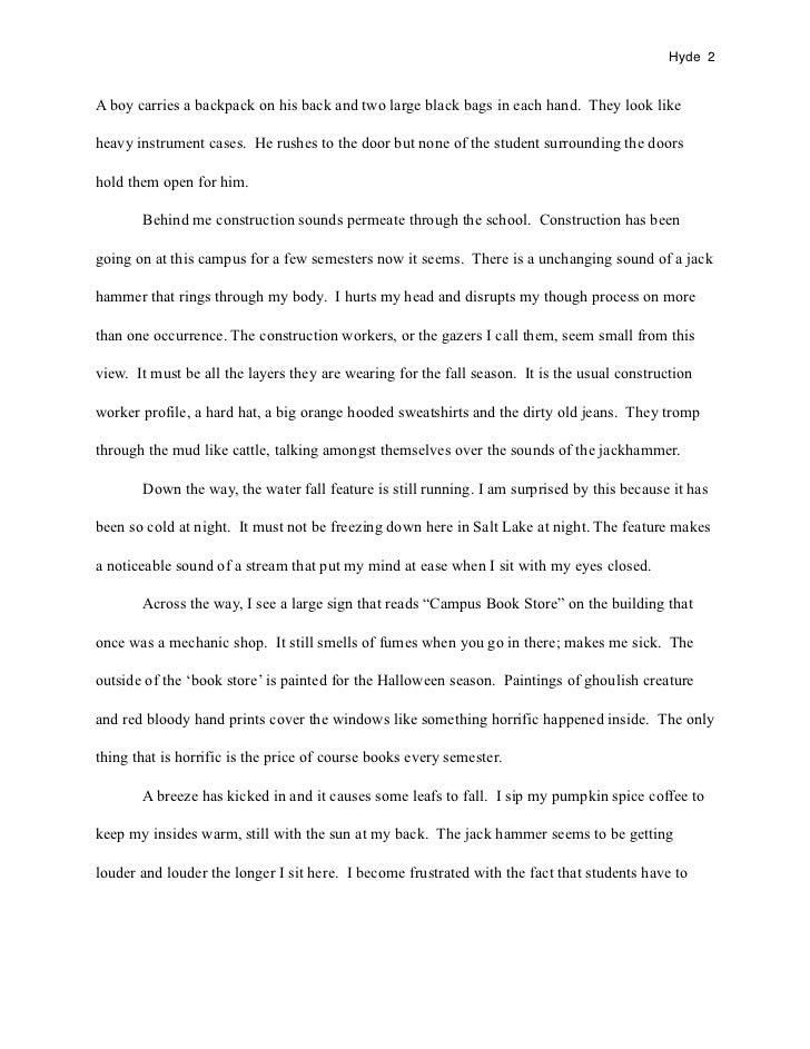 Pediatric observation essay