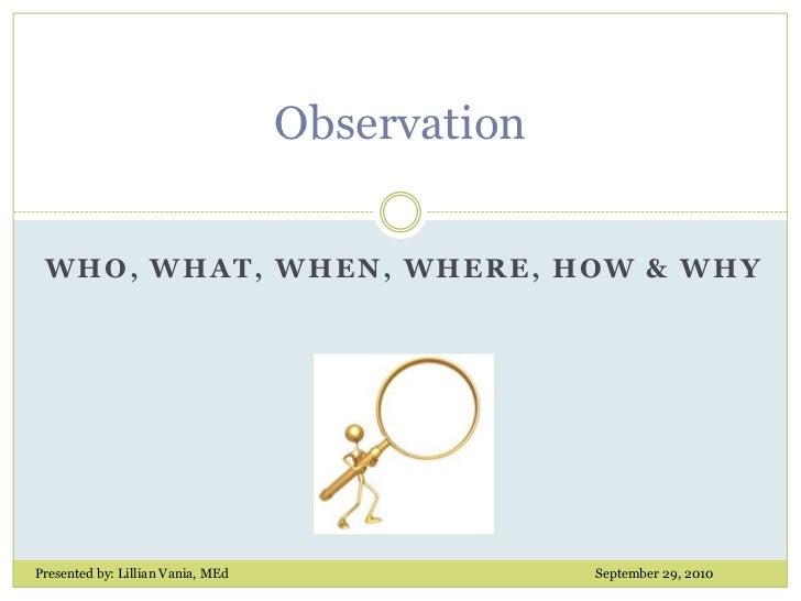 Observation Power Point Presentation 9 10 2010