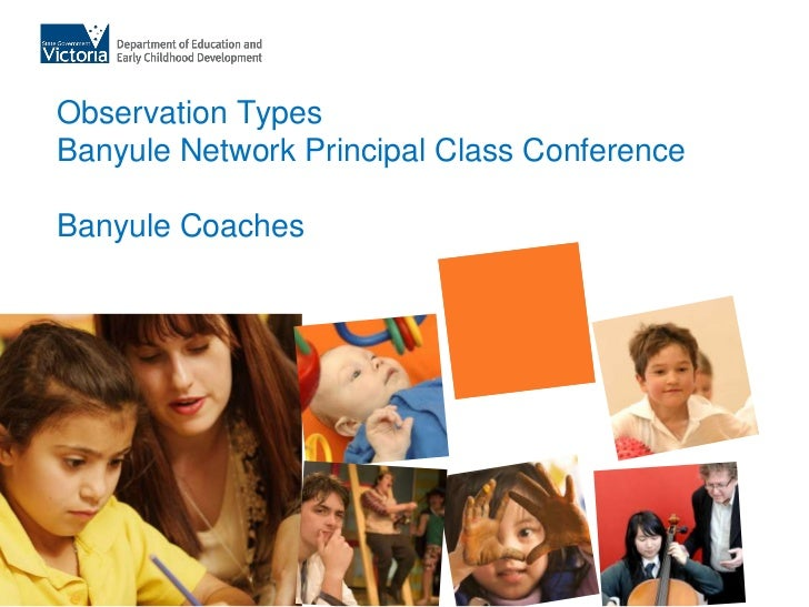 Observation TypesBanyule Network Principal Class ConferenceBanyule Coaches<br />