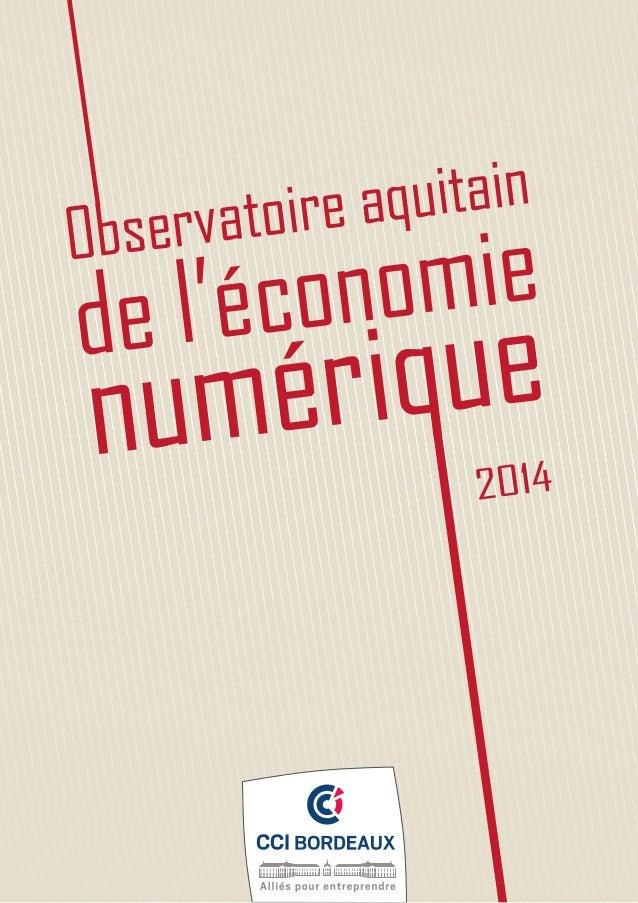 Observatoire aquitain de l'économie numérique 2014