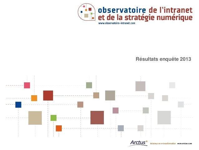 Observatoire intranet-2013-synthèse