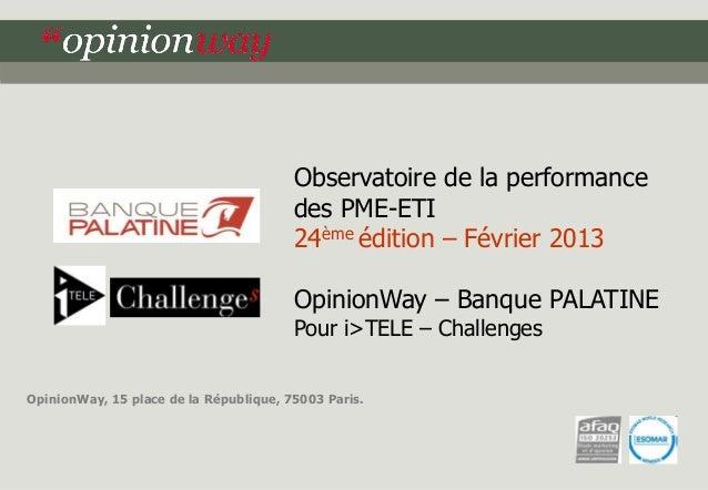 Observatoire de la performance                                        des PME-ETI                                        2...