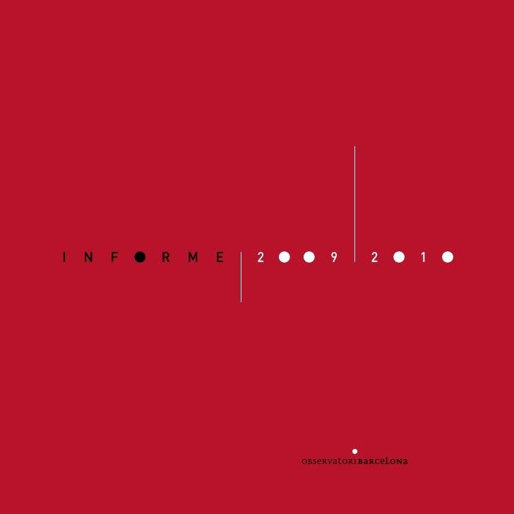 Observatori Barcelona. Informe 2009-10 (Català)