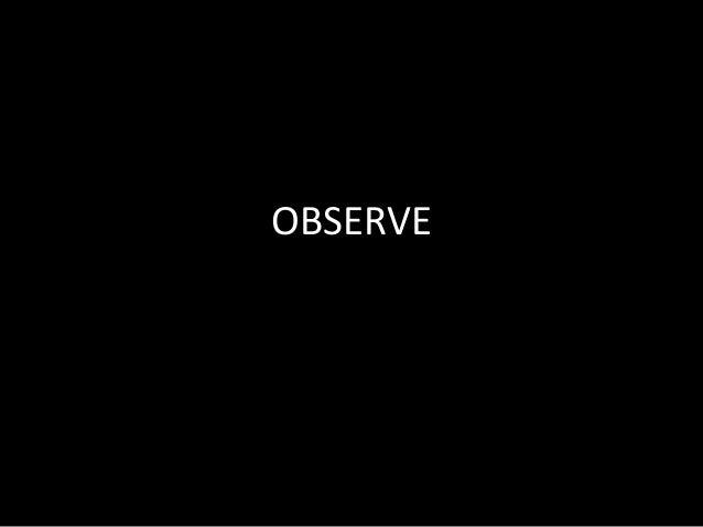 Observe class