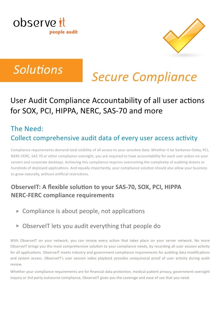 ObserveIt Remote Access Monitoring Software - Compliance Solution