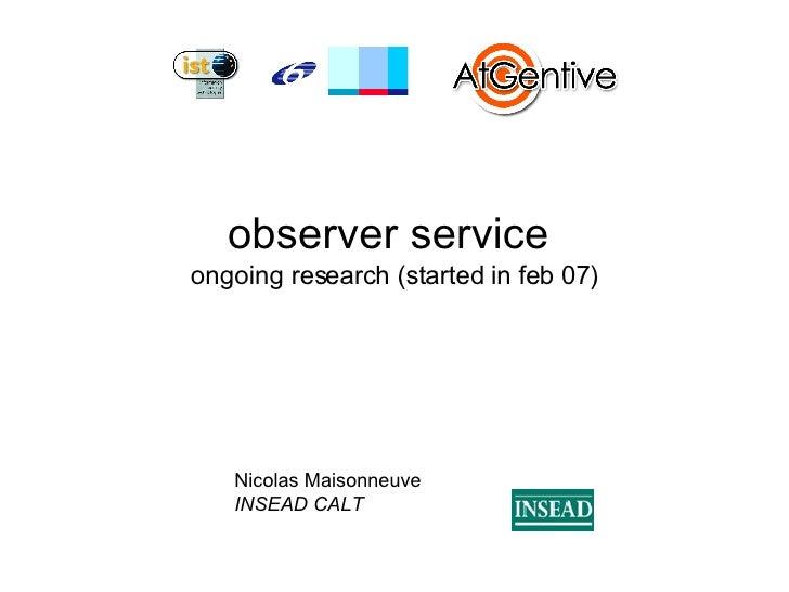 Observer service