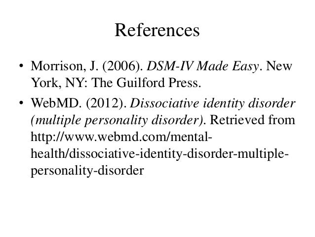 ... tips term papers dissociative identity dissociative identity disorder