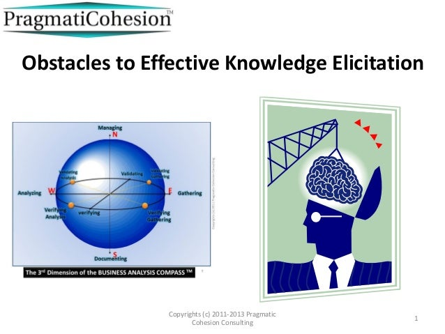Obstacles to effective knowledge elicitation